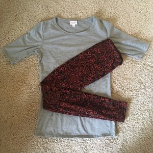 LulaRoe XS T-shirt and One Size Leggings Outfit